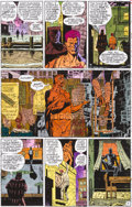 Original Comic Art:Miscellaneous, Watchmen #10 Page 5 Color Guide (DC, 1986).... (Total: 2Items)