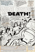 Original Comic Art:Panel Pages, Ric Estrada and John Calnan Legion of Super-Heroes V2#261Partial Story Original Art Group of 10 (DC, 1980).... (Total: 10Original Art)