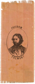 Political:Ribbons & Badges, John C. Frémont: Pink Silk Ribbon....