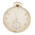 Timepieces:Pocket (post 1900), Hamilton 14k Gold Open Face Pocket Watch. ...