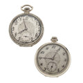 Timepieces:Pocket (post 1900), Two Hamilton Open Face Pocket Watches. ... (Total: 2 Items)