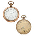 Timepieces:Pocket (post 1900), Waltham & Gruen Open Face Pocket Watches. ... (Total: 2 Items)