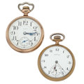 Timepieces:Pocket (post 1900), Elgin & Nidor 12 Size Open Face Pocket Watches. ... (Total: 2 Items)