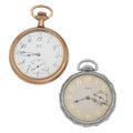 Timepieces:Pocket (post 1900), Elgin & Lange 12 Size Pocket Watches. ... (Total: 2 Items)