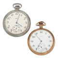 Timepieces:Pocket (post 1900), Two Elgin's Open Face Pocket Watches. ... (Total: 2 Items)