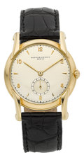 Timepieces:Wristwatch, Vacheron & Constantin Fine Gold Wristwatch With Fancy Lugs,circa 1945. ...