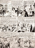 "Original Comic Art:Panel Pages, Wally Wood Valor #2 ""The King's Service"" Page 3 Original Art(EC, 1955)...."