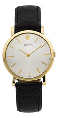 Timepieces:Wristwatch, Rolex 18k Yellow Gold Ultra Thin Vintage Wristwatch Ref. 9490. ...