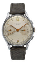 Timepieces:Wristwatch, Baume & Mercier Vintage Stainless Steel Chronograph Ref. 908....
