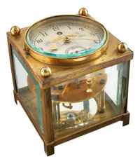 Philadelphia College of Horology Rare Inverted Spring Detent Karrusel Clock, circa 1900