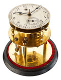 Timepieces:Clocks, O.E. Huefner Rare Table Clock With Karrusel, Detent Chronometer Escapement. ...