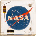 Explorers:Space Exploration, Apollo-Era NASA Acrylic Display Containing Four ElectronicComponents. ...