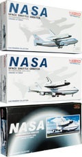 Explorers:Space Exploration, NASA Space Shuttle Orbiter Models from Dragon's 1/400 Scale PremierCollection (Three), All Mint in Box.... (Total: 3 )