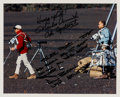 Autographs:Celebrities, Apollo 12 Training: Charles Conrad and Alan Bean Signed Color Photowith Humorous Inscriptions....
