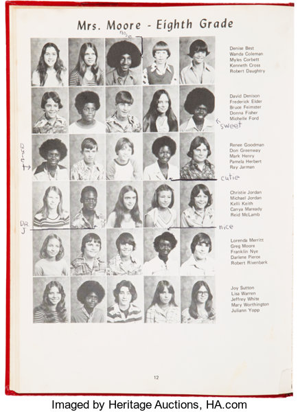 best sneakers f55d6 5a867 1977 Michael Jordan Middle School Yearbook.... Basketball   Lot  82261    Heritage Auctions