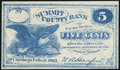 Obsoletes By State:Ohio, Cuyahoga Falls, OH- W.A. Hanford at Summit County Bank 5¢ 1862. ...
