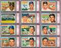 Baseball Cards:Lots, 1956 Topps Baseball PSA NM-MT 8 Graded Collection (50). ...