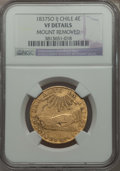 Chile, Chile: Republic gold 4 Escudos 1837 So-IJ VF Details (MountRemoved) NGC,...