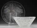 Art Glass:Lalique, An R. Lalique Clear Glass Annecy Bowl and Ecumes No.2 Plate, circa 1930-1935. Marks: R. LALIQUE... (Total: 2Items)