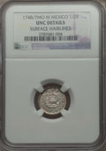 Mexico, Mexico: Ferdinand VI 1/2 Real 1748/8 Mo-M UNC Details (SurfaceHairlines) NGC,...