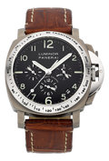 Timepieces:Wristwatch, Panerai PAM 00074 Luminor Titanium Automatic Chronograph Wristwatch #D1148/1500. ...
