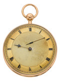 Timepieces:Pocket (pre 1900) , Leroy et Fils Paris Rose Gold Quarter Hour Repeater For Restoration. ...