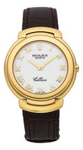 Timepieces:Wristwatch, Rolex Cellini Ref. 6623 Gent's 18k Yellow Gold Wristwatch. ...
