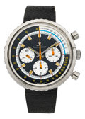 Timepieces:Wristwatch, Jaeger LeCoultre Rare Ref. 2648.42 Large Steel Chronograph, circa1970's. ...