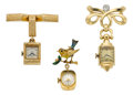 Timepieces:Pendant , Three Gold Pendant Watches. ... (Total: 3 Items)