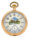 Timepieces:Pocket (pre 1900) , Waltham 14k Gold Model 88 With O'Hara Dial, circa 1889. ...