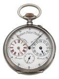 "Timepieces:Pocket (pre 1900) , Antonio Barbani Silver ""Cadran & Minuterie Systeme"" DoubleRegulator Dial Watch. ..."