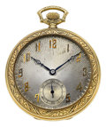 Timepieces:Pocket (post 1900), Dudley Watch Co. Model 1 Gold Masonic Watch, No. 1324, circa 1920. ...
