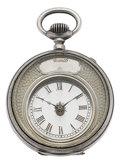 "Timepieces:Pocket (pre 1900) , Swiss Silver""Mysterieuse"" Watch, circa 1880. ..."