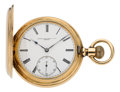 Timepieces:Pocket (pre 1900) , Patek Philippe 14k Yellow Gold Hunting Case Pocket Watch. ...