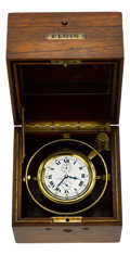 Timepieces:Other , Elgin Father Time 21 Jewel Freesprung Deck Watch With Wind Indicator, circa 1918. ...