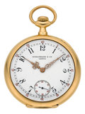 Timepieces:Wristwatch, Patek Philippe 18k Yellow Gold Pocket Watch Circa 1905. ...