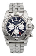 Timepieces:Wristwatch, Breitling Chronomat GMT Certified Chronometer Chronograph BraceletWristwatch. ...