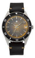 Timepieces:Wristwatch, Zenith Surf 1970's Tropical Dial Automatic Dive Watch. ...
