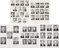 Autographs:Celebrities, NASA Astronaut Groups One through Five Portrait Pages Signed byNine. ...