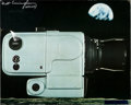 Explorers:Space Exploration, Walt Cunningham Signed Large Color Hasselblad 500EL Camera Photo,Originally from His Personal Collection. ...