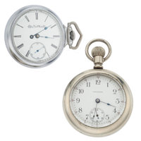 Waltham & Elgin 18 Size Open Face Pocket Watches