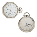 Timepieces:Pocket (post 1900), Waltham Sector Dial & Elgin 12 Size Pocket Watches. ... (Total: 2 Items)