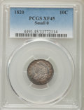 Bust Dimes: , 1820 10C Small 0 XF45 PCGS. PCGS Population (15/24). NumismediaWsl. Price for problem free NGC/PCGS co...