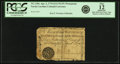 Colonial Notes:North Carolina, North Carolina April 2, 1776 $1/4 NCSN in White Script Monogram Fr.NC-155e. PCGS Fine 12 Apparent.. ...