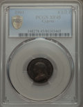 Cyprus:British Colony, Cyprus: British Colony. Victoria 4 1/2 Piastres 1901 XF45 PCGS,...