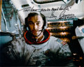 Autographs:Celebrities, Gene Cernan Signed Apollo 17 Lunar Module Color Photo. ...