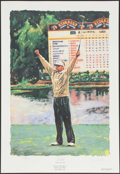 Golf Collectibles:Autographs, Davis Love III Signed Lithograph. ...