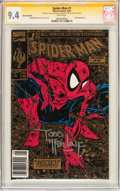 Modern Age (1980-Present):Superhero, Spider-Man #1 Gold Edition - Signature Series (Marvel, 1990) CGC NM9.4 White pages....