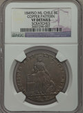 Chile, Chile: Republic copper Pattern 8 Escudos 1849 So-ML VF Details(Scratches) NGC,...