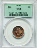 Proof Indian Cents, 1863 1C PR64 PCGS....